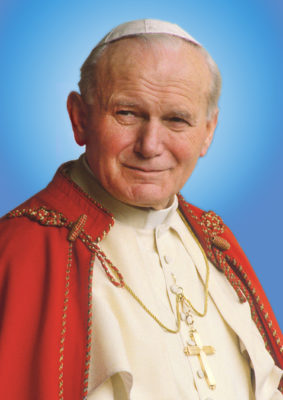 Pope John Paul II is pictured in an image released March 25 by the postulation of his sainthood cause. The Polish pope, who died April 2, 2005, will be beatified May 1. (CNS photo/Grzegorz Galazka, courtesy of Postulation of Pope John Paul II) (March 28, 2011) EDITORS: MANDATORY CREDIT AS GIVEN. EDITORIAL USE ONLY.